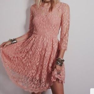 FreePeople floral mesh lace dress